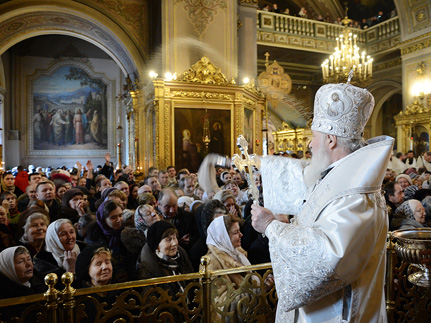 Служение Патриарха Кирилла в день Крещения Господня